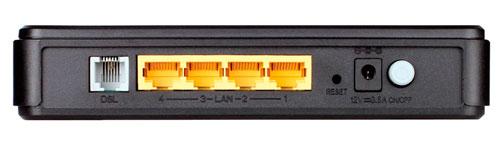 Разъемы D-Link DSL 2540u
