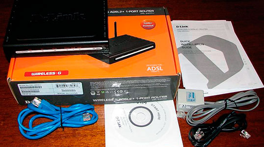 Распаковка D-Link DSL 2600u