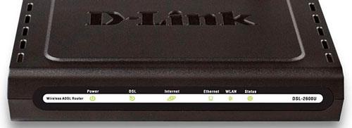 Индикаторы D-link DSL 2600u