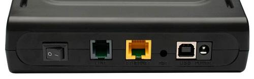 Разъемы DSL-2520u
