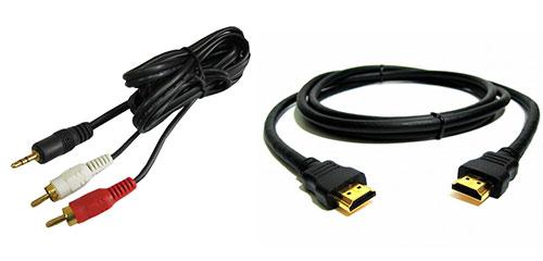 HDMI и композитный кабели