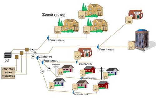 Структура PON