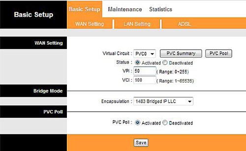 Значения VCI и VPI