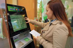Оплата телекоммуникационных услуг через банкомат